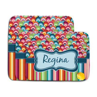 Retro Scales & Stripes Memory Foam Bath Mat (Personalized)