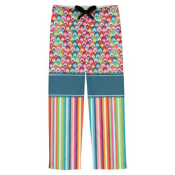 Retro Scales & Stripes Mens Pajama Pants (Personalized)