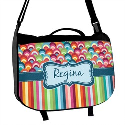 Retro Scales & Stripes Messenger Bag (Personalized)