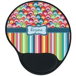 Retro Scales & Stripes Mouse Pad with Wrist Support