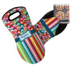 Retro Scales & Stripes Neoprene Oven Mitt (Personalized)