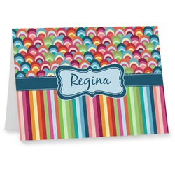 Retro Scales & Stripes Notecards (Personalized)