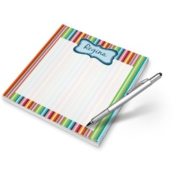 Retro Scales & Stripes Notepad (Personalized)
