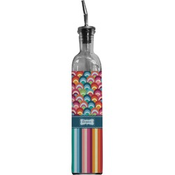 Retro Scales & Stripes Oil Dispenser Bottle (Personalized)