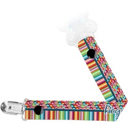 Retro Scales & Stripes Pacifier Clips (Personalized)