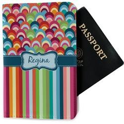 Retro Scales & Stripes Passport Holder - Fabric (Personalized)