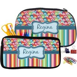 Retro Scales & Stripes Neoprene Pencil Case (Personalized)