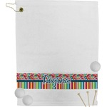 Retro Scales & Stripes Golf Towel (Personalized)