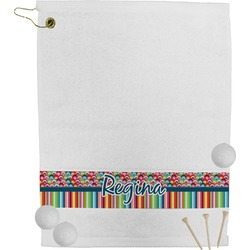 Retro Scales & Stripes Golf Towel (Personalized)