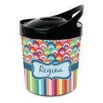Retro Scales & Stripes Plastic Ice Bucket (Personalized)