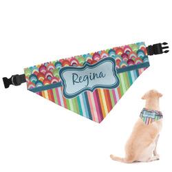 Retro Scales & Stripes Dog Bandana (Personalized)