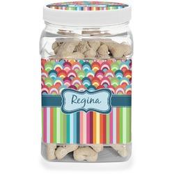Retro Scales & Stripes Dog Treat Jar (Personalized)