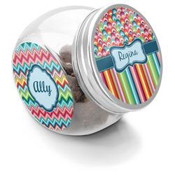 Retro Scales & Stripes Puppy Treat Jar (Personalized)