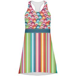 Retro Scales & Stripes Racerback Dress (Personalized)