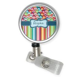 Retro Scales & Stripes Retractable Badge Reel (Personalized)