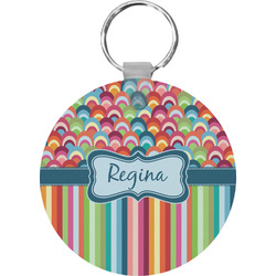 Retro Scales & Stripes Keychains - FRP (Personalized)