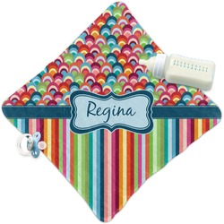 Retro Scales & Stripes Security Blanket (Personalized)