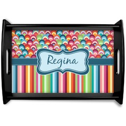 Retro Scales & Stripes Wooden Trays (Personalized)