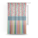 Retro Scales & Stripes Sheer Curtains (Personalized)