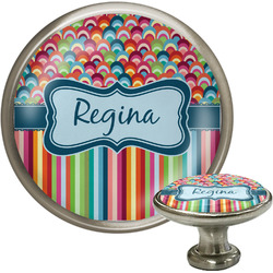 Retro Scales & Stripes Cabinet Knobs (Personalized)
