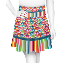 Retro Scales & Stripes Skater Skirt (Personalized)