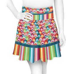 Retro Scales & Stripes Skater Skirt (Personalized)
