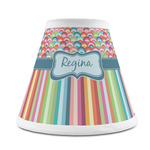 Retro Scales & Stripes Chandelier Lamp Shade (Personalized)