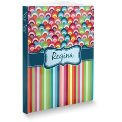 Retro Scales & Stripes Softbound Notebook (Personalized)