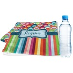 Retro Scales & Stripes Sports & Fitness Towel (Personalized)