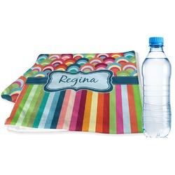 Retro Scales & Stripes Sports Towel (Personalized)