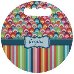 Retro Scales & Stripes Stadium Cushion (Round) (Personalized)