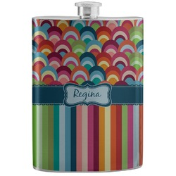 Retro Scales & Stripes Stainless Steel Flask (Personalized)