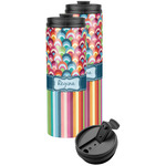 Retro Scales & Stripes Stainless Steel Skinny Tumbler (Personalized)