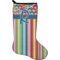 Retro Scales & Stripes Christmas Stocking - Neoprene (Personalized)