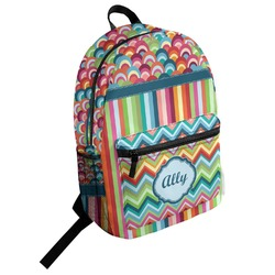 Retro Scales & Stripes Student Backpack (Personalized)