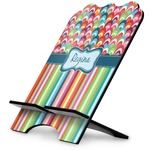 Retro Scales & Stripes Stylized Tablet Stand (Personalized)