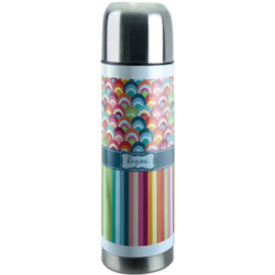 Retro Scales & Stripes Stainless Steel Thermos (Personalized)