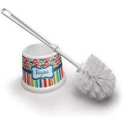 Retro Scales & Stripes Toilet Brush (Personalized)