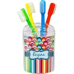 Retro Scales & Stripes Toothbrush Holder (Personalized)