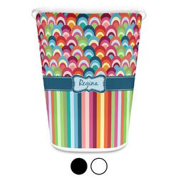 Retro Scales & Stripes Waste Basket (Personalized)