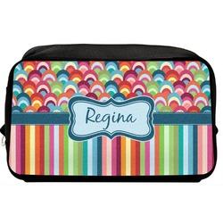 Retro Scales & Stripes Toiletry Bag / Dopp Kit (Personalized)