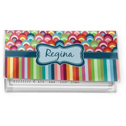 Retro Scales & Stripes Vinyl Check Book Cover (Personalized)