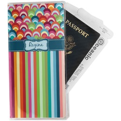 Retro Scales & Stripes Travel Document Holder