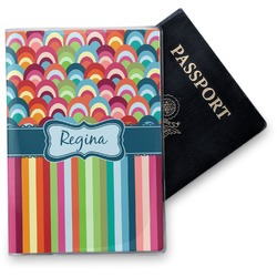 Retro Scales & Stripes Vinyl Passport Holder (Personalized)