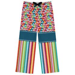 Retro Scales & Stripes Womens Pajama Pants (Personalized)