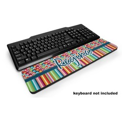 Retro Scales & Stripes Keyboard Wrist Rest (Personalized)