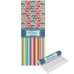 Retro Scales & Stripes Yoga Mat - Printed Front (Personalized)