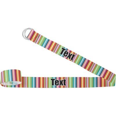 Retro Scales & Stripes Yoga Strap (Personalized)