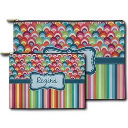 Retro Scales & Stripes Zipper Pouch (Personalized)