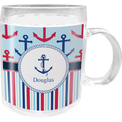Anchors & Stripes Acrylic Kids Mug (Personalized)